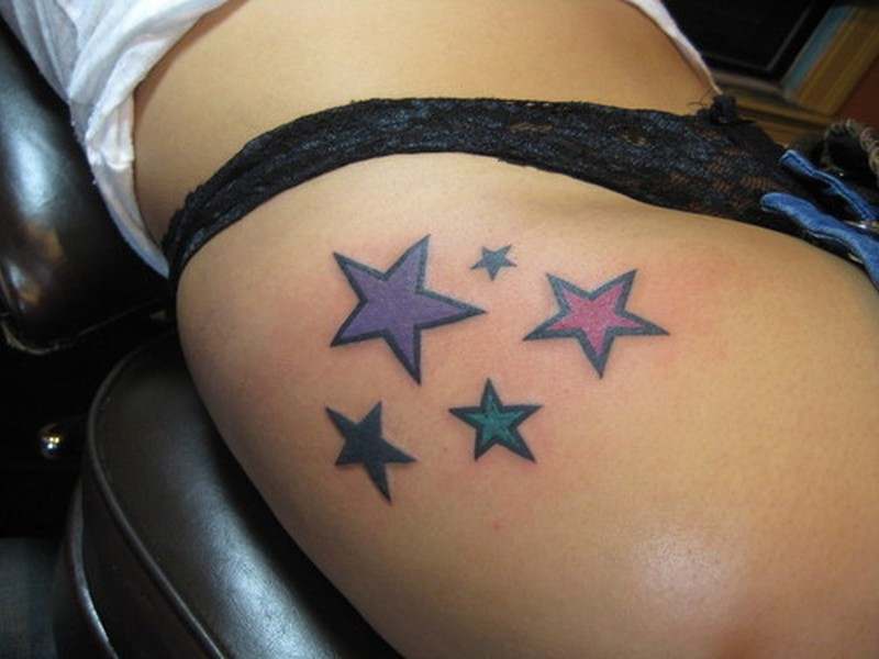 Star Tattoos On Thigh1