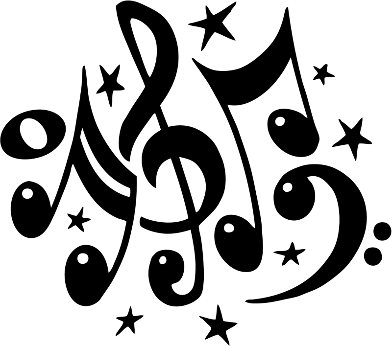 Stars And Music Notes1 tattoo