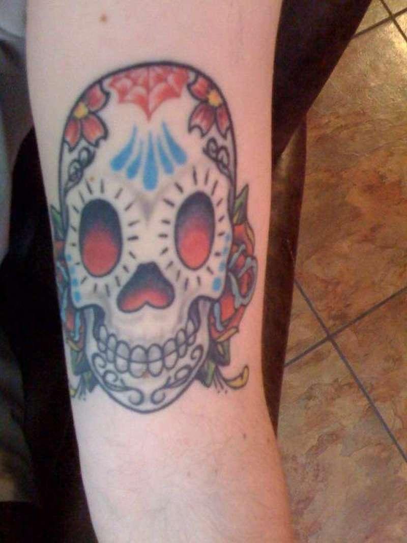 sugar skull day of the dead tattoos tattoos book. Black Bedroom Furniture Sets. Home Design Ideas