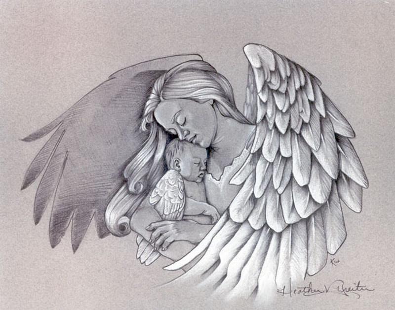 Tattoos Drawings Of Angelss