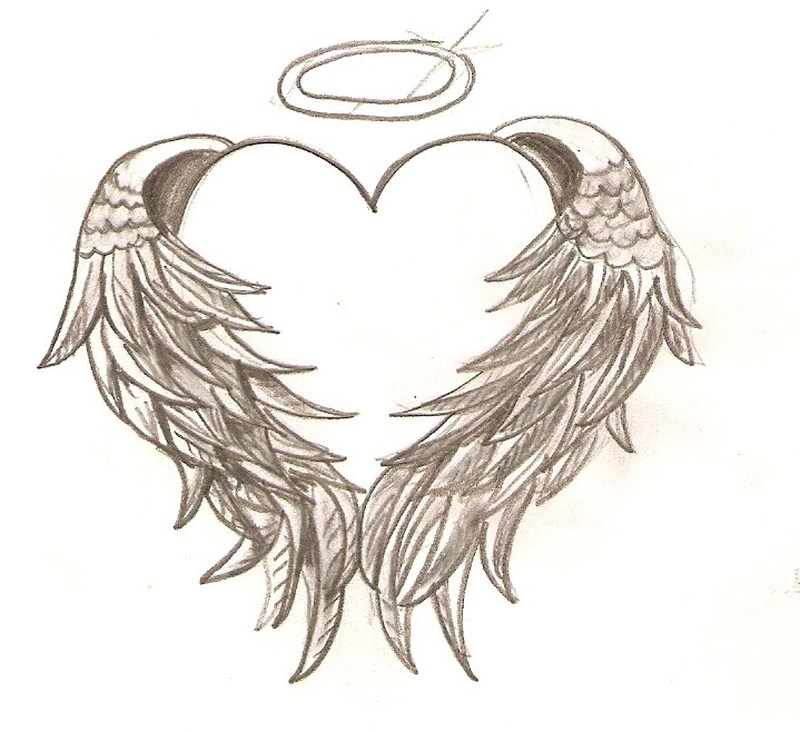 Tattoos Of Hearts With Angel Wings