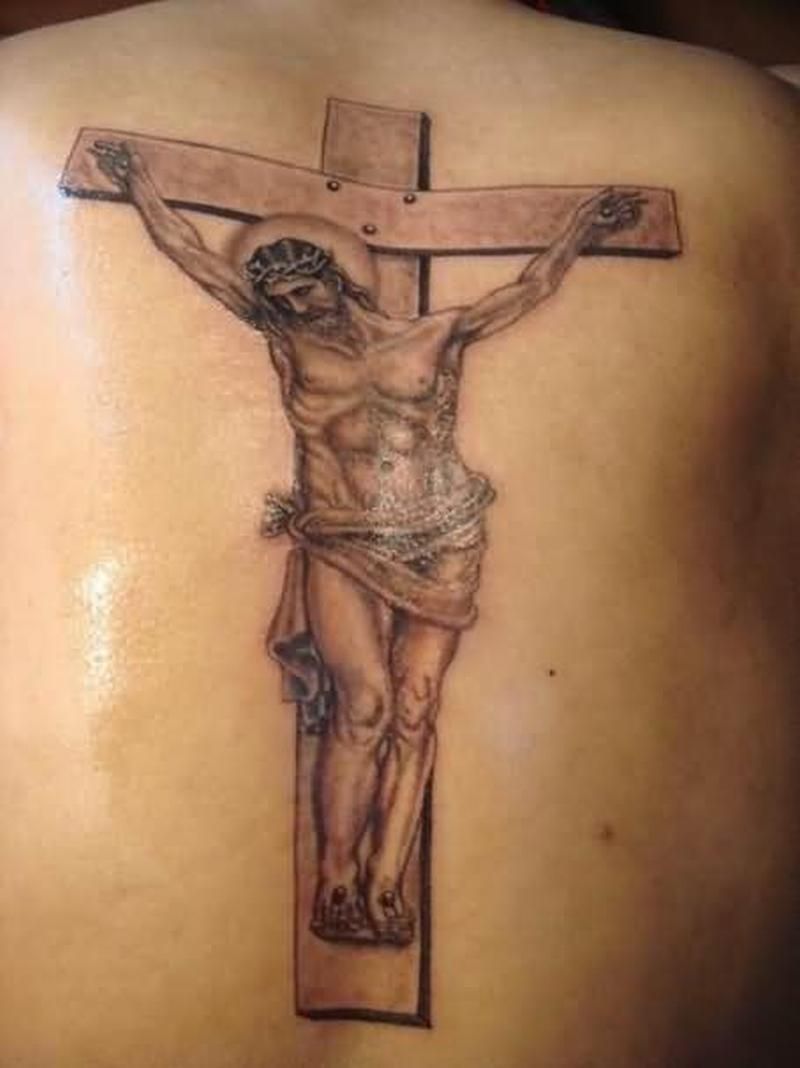 Эскиз тату иисуса на кресте 4
