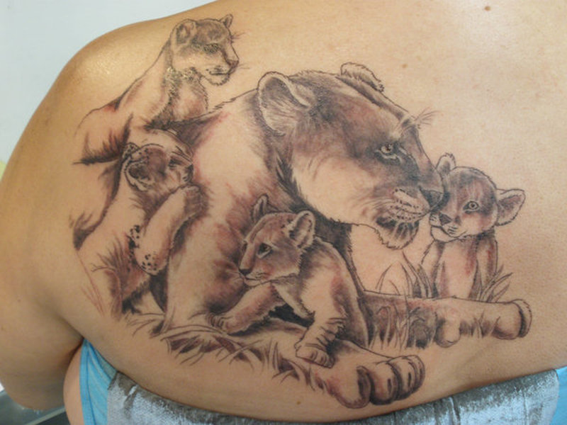 Tattoos Of Lions And Cubs