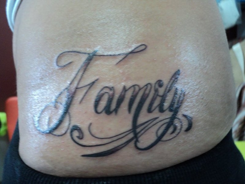 The Word Family Tattoos