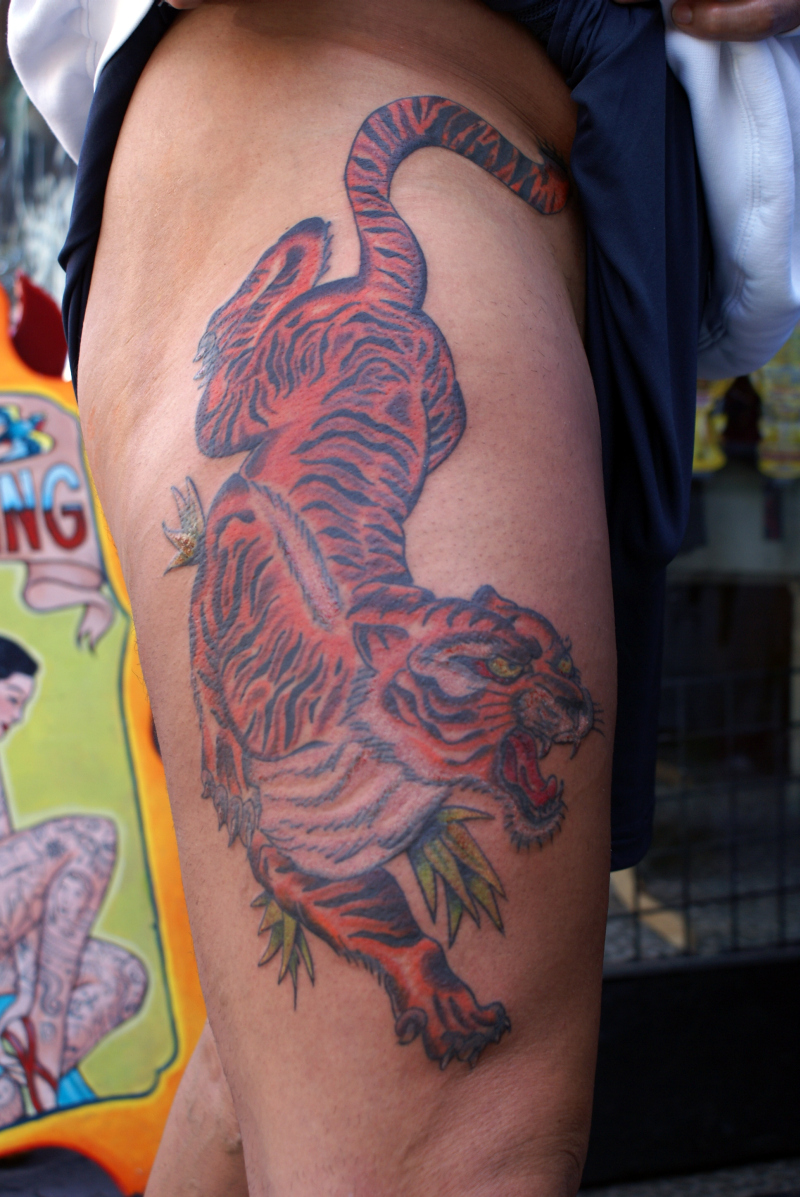 Traditional Asian Tiger Tattoo