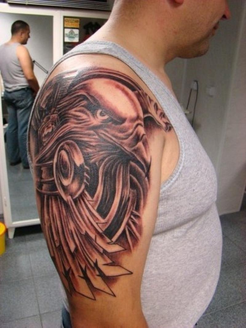 Tribal Eagle Tattoos For Men
