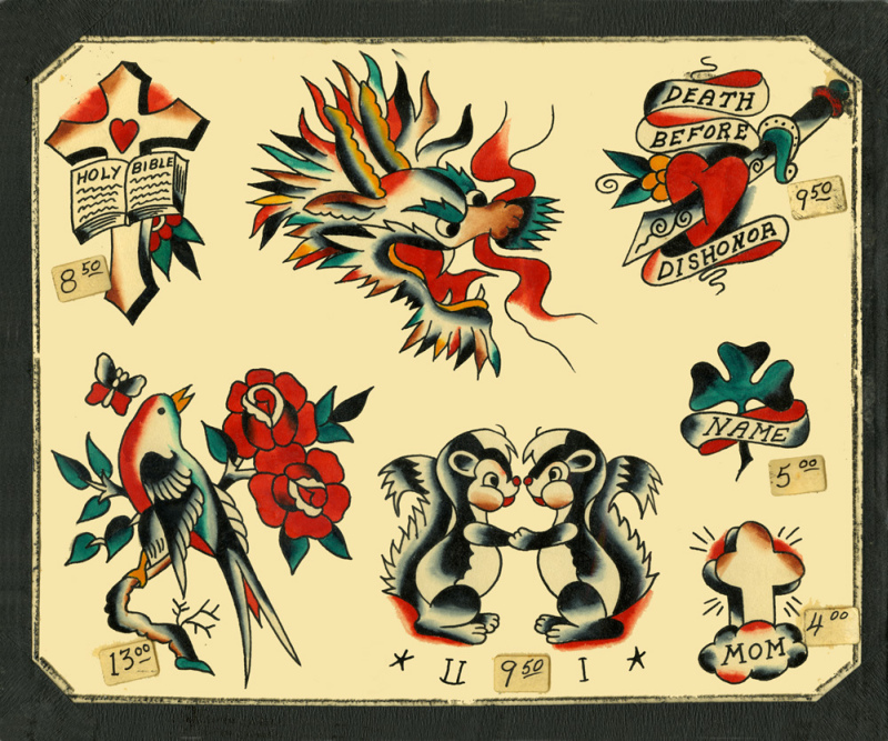 Vintage Flash Tattoo Designs