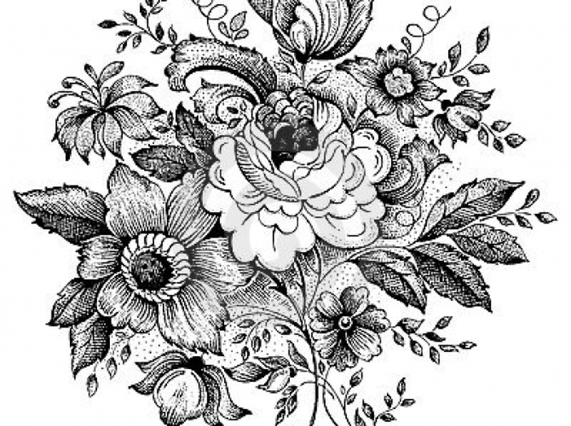 Vintage Floral Tattoo Designs