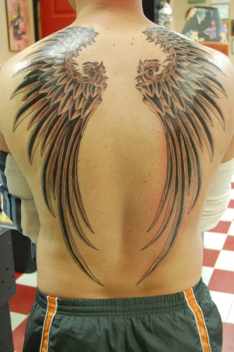 Wing Tattoos For Men On Back
