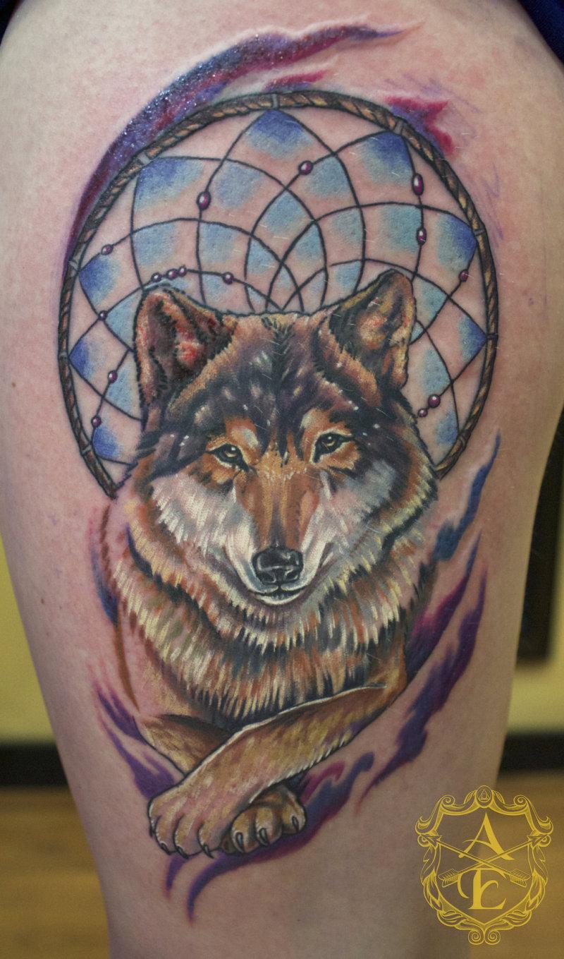 44e9394bd Wolf And Dreamcatcher Tattoos - Tattoos Book - 65.000 Tattoos Designs