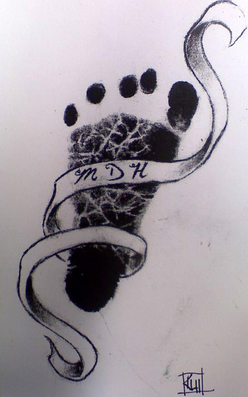 27ab08f135ae9 A baby footprint tattoo design 2 - Tattoos Book - 65.000 Tattoos Designs