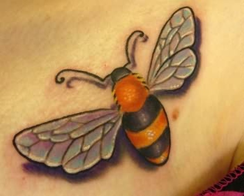 A bumblebee tattoo graphic