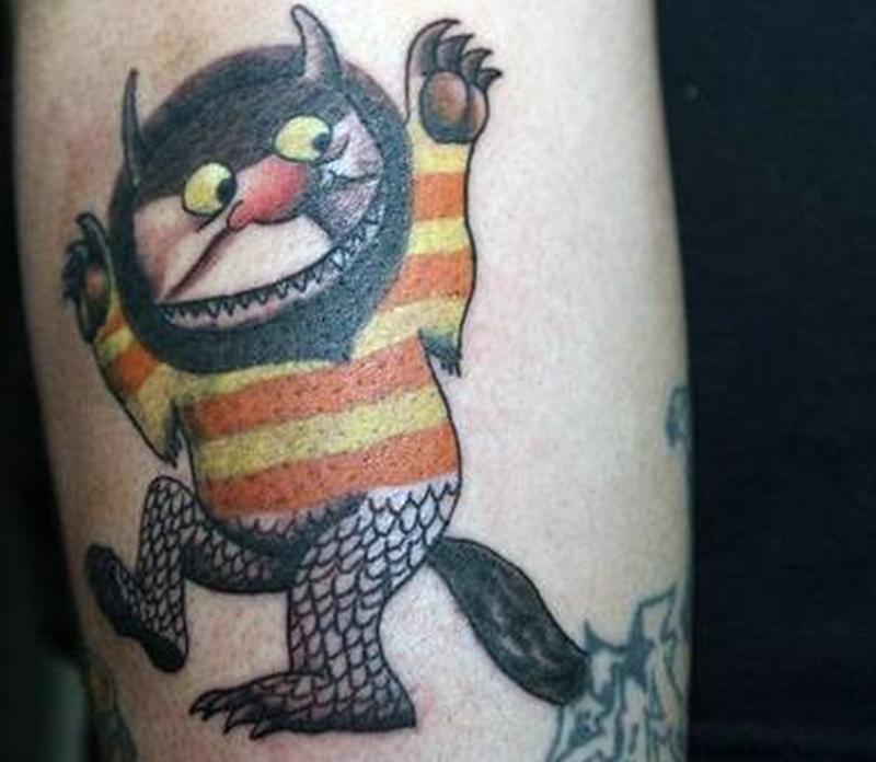 A dreadful fantasy tattoo design