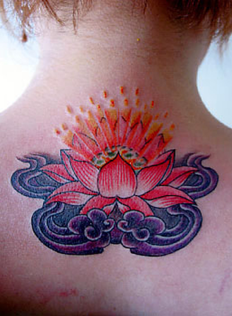 A lotus flower tattoo on neck back 2 tattoos book a lotus flower tattoo on neck back 2 izmirmasajfo
