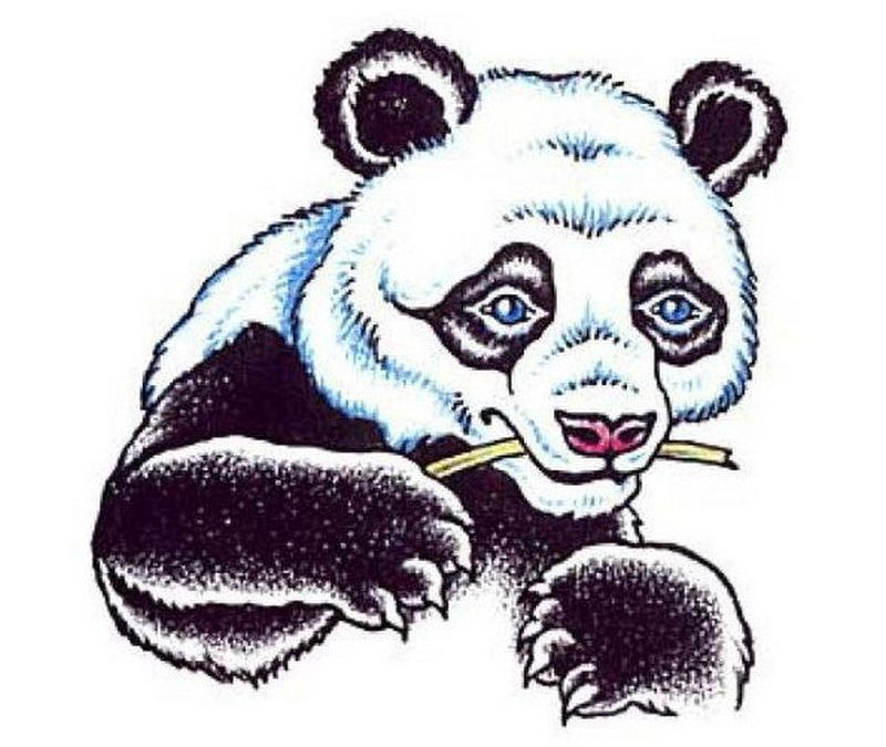 A panda beartattoo design