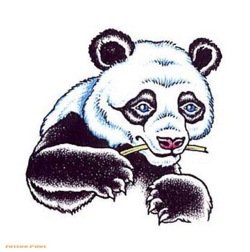 A panda beartattoo design