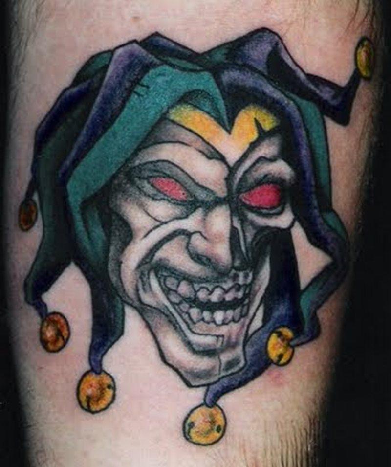 A psycho clown tattoo