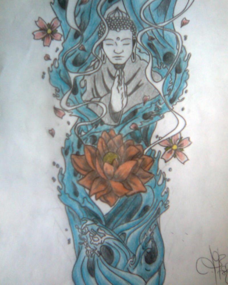 A religious buddha tattoo design