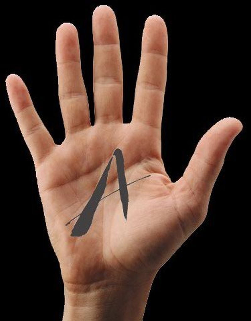 A tattoo on hand palm