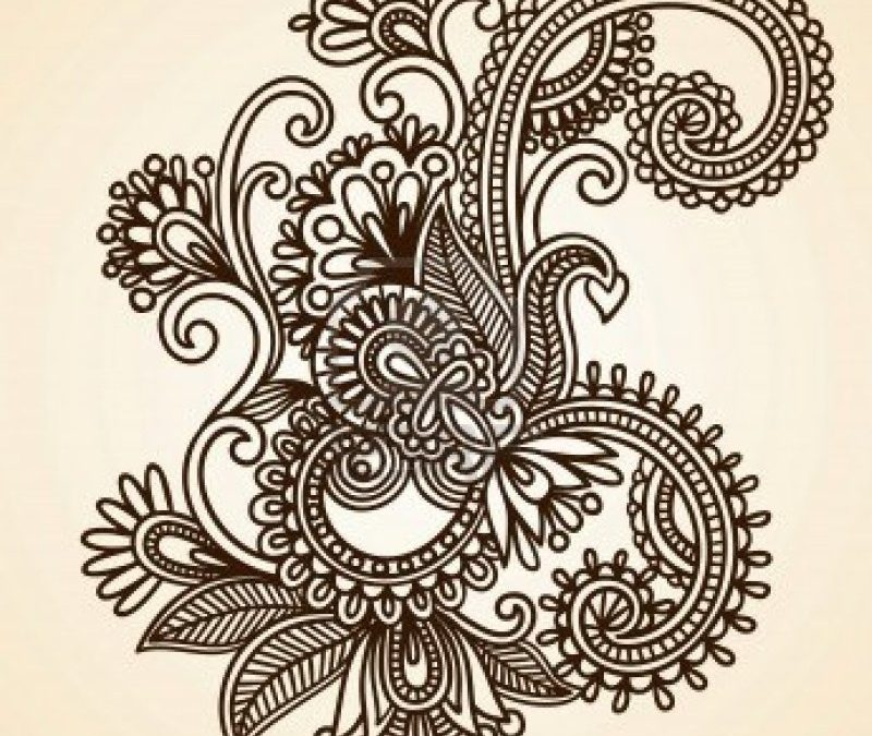 Abstract henna mehndi tattoo design
