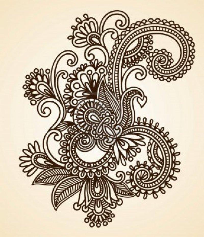 Abstract henna mehndi tattoo design