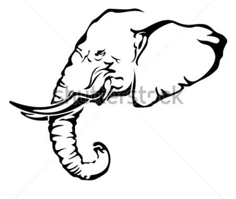 African elephant tattoo sample
