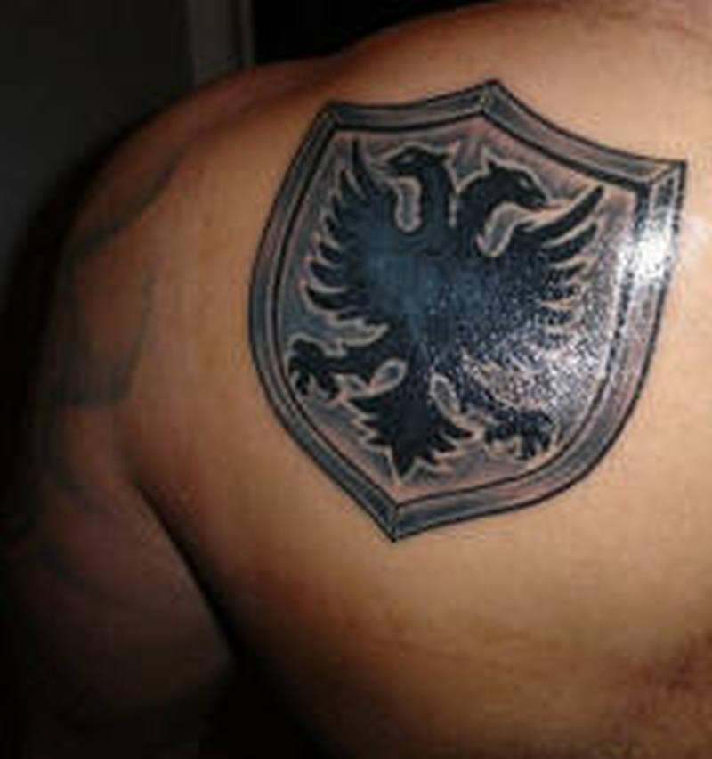 albanian eagle tattoo shoulder images galleries with a bite. Black Bedroom Furniture Sets. Home Design Ideas