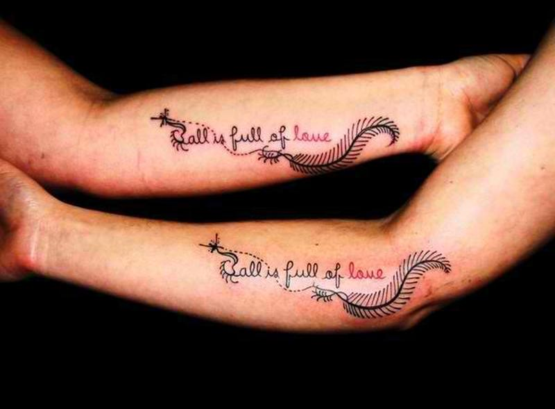 b3b45259d All is full of love couple tattoo design - Tattoos Book - 65.000 ...