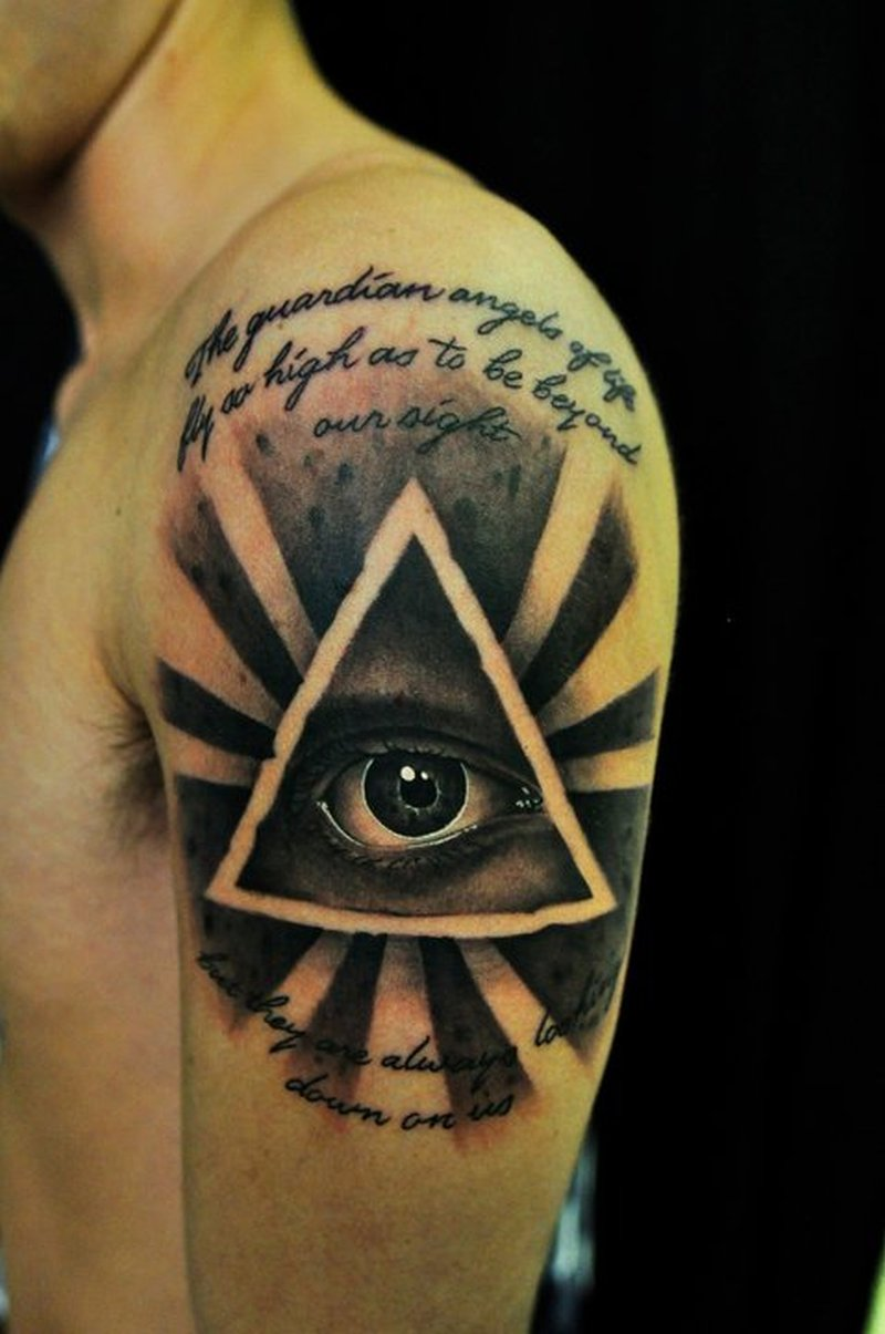 all seeing eye tattoo on shoulder tattoos book. Black Bedroom Furniture Sets. Home Design Ideas