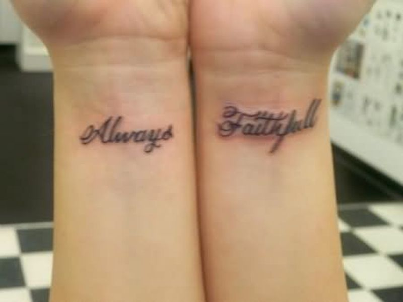 always faithfull tattoo on wrist tattoos book tattoos designs. Black Bedroom Furniture Sets. Home Design Ideas