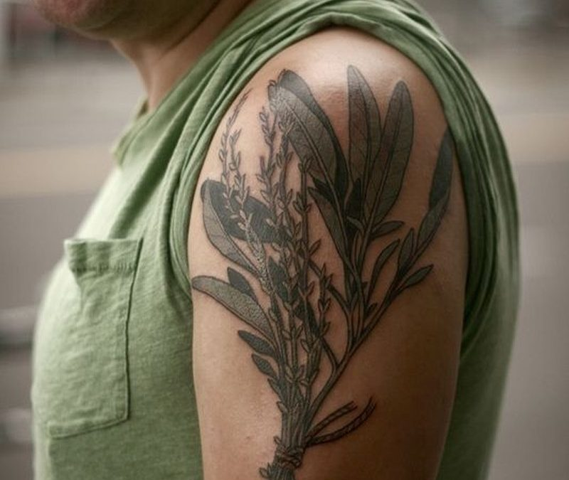 Amasing wildflowers tattoo on shoulder by Alice Carrier