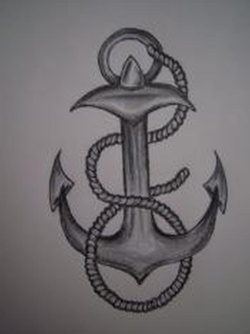 Amazing anchor tattoo design