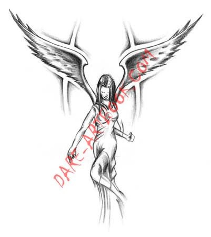 amazing angel girl tattoo design tattoos book tattoos designs. Black Bedroom Furniture Sets. Home Design Ideas