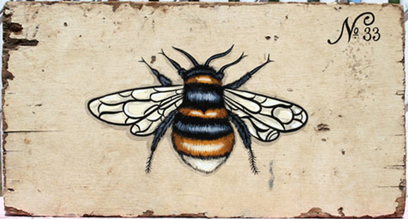 Amazing bumblebee tattoo design