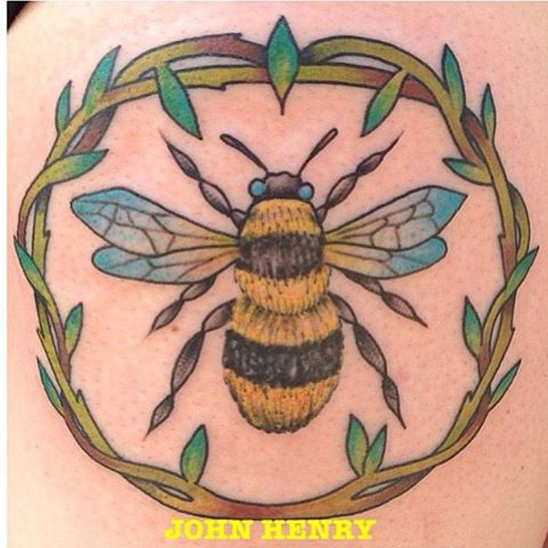 Amazing bumblebee tattoo
