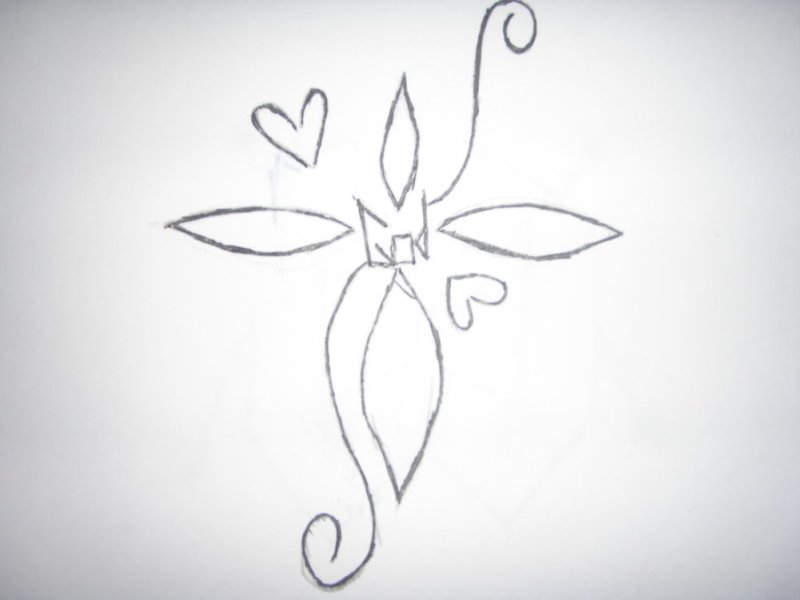 Amazing cross tattoo sketch