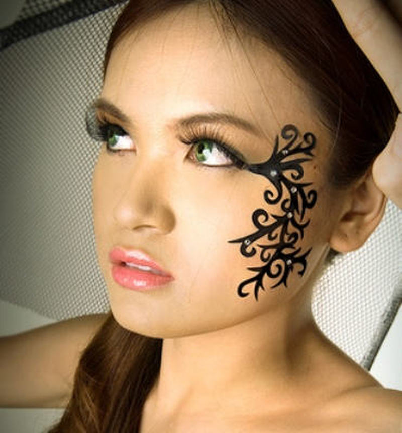 Amazing face tattoo design for girls