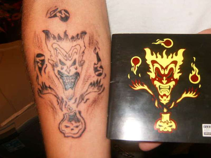 Amazing icp tattoo design