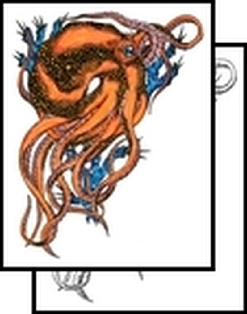 Amazing octopus aqua tattoo