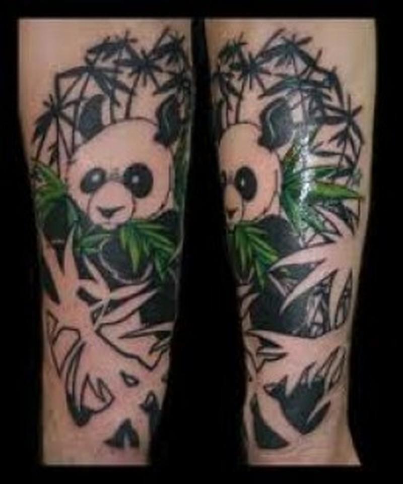 amazing panda bear tattoo designs tattoos book. Black Bedroom Furniture Sets. Home Design Ideas