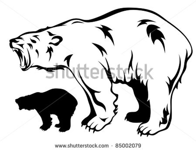 Amazing polar bear tattoo design