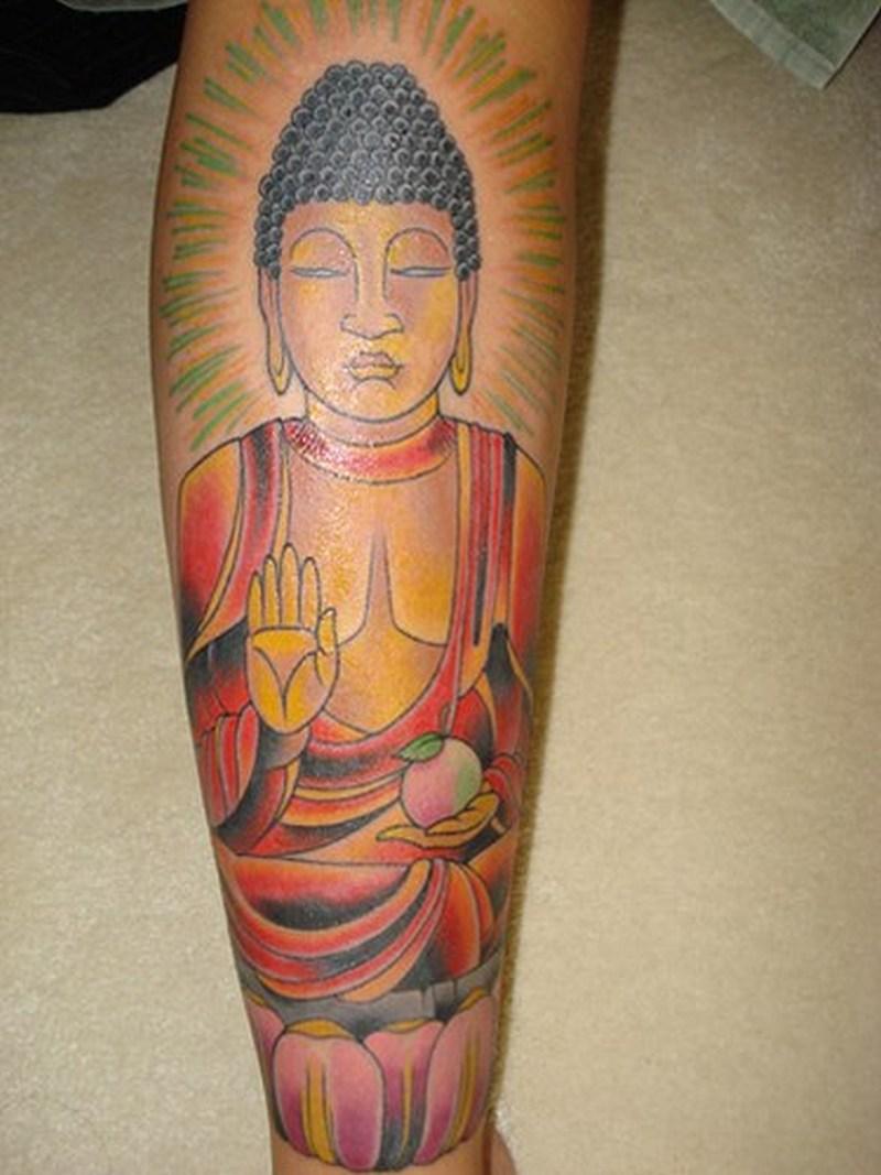 Amazing religious buddha tattoo