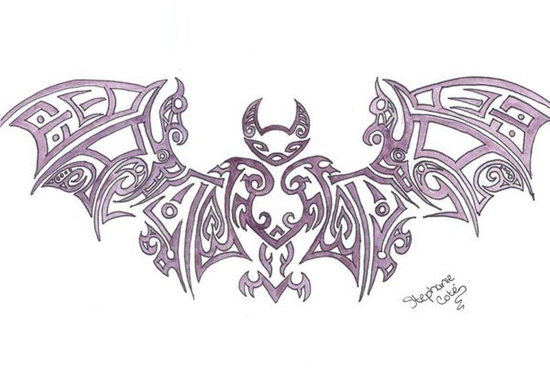 amazing tribal bat tattoo design tattoos book. Black Bedroom Furniture Sets. Home Design Ideas