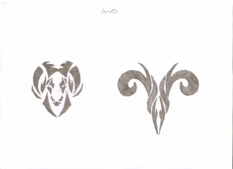 Amazing zodiac aries tattoo design