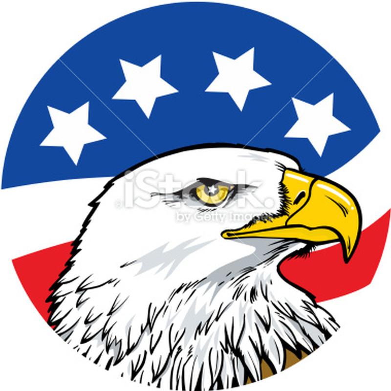 American eagle with stars tattoo design
