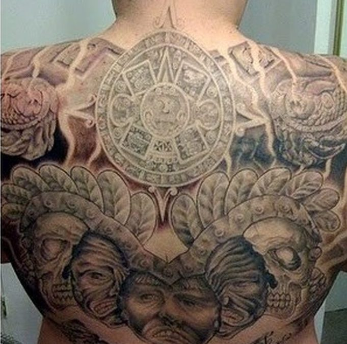 Ancient aztec tattoo