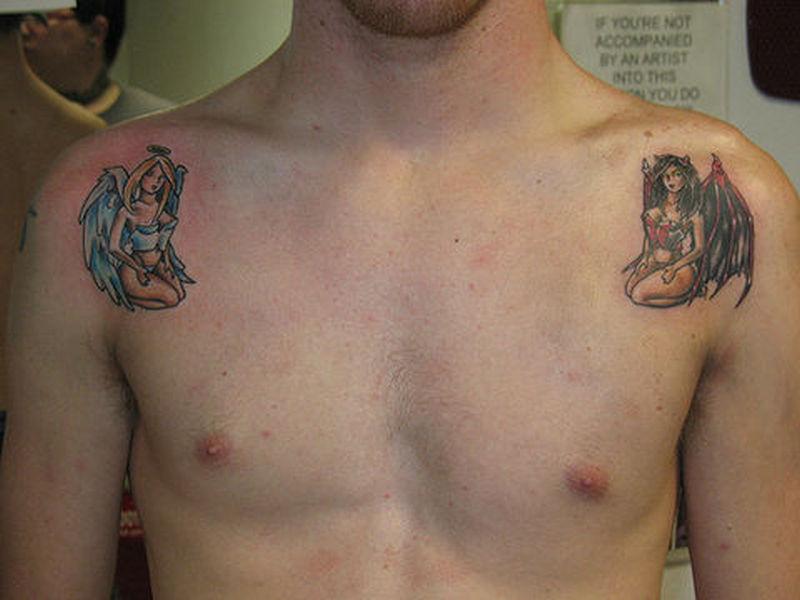 e5b6e815e Angel girl devil girl tattoo - Tattoos Book - 65.000 Tattoos Designs