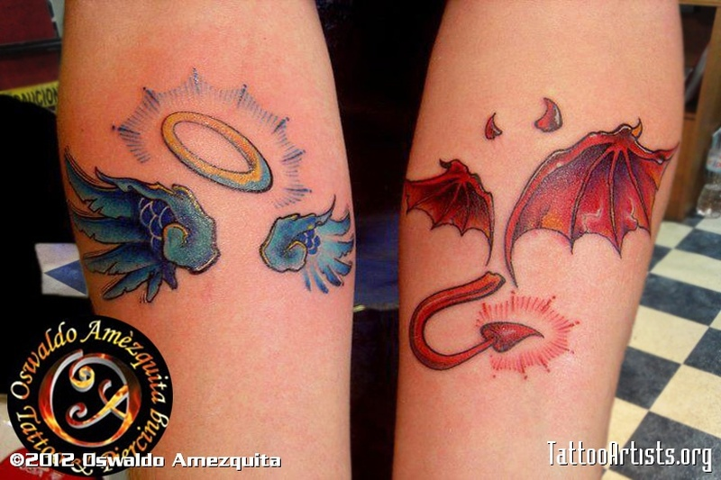 angel n devil wings tattoo design tattoos book tattoos designs. Black Bedroom Furniture Sets. Home Design Ideas