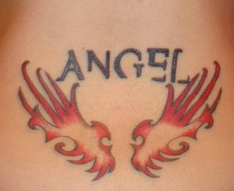 angel word tattoo tattoos book tattoos designs. Black Bedroom Furniture Sets. Home Design Ideas
