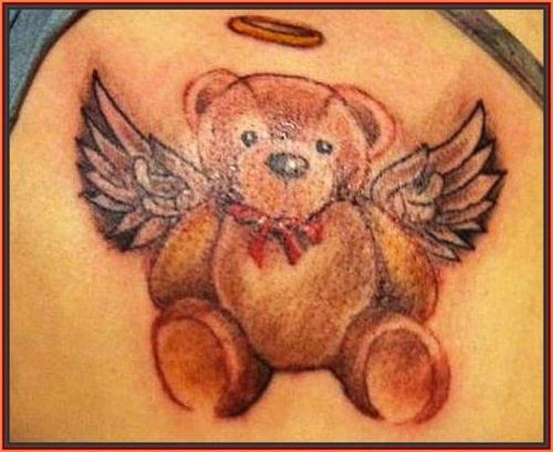 Angelic Teddy Bear Tattoo Design Tattoos Book 65 000 Tattoos Designs